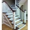 品家 钢架结构别墅实木楼梯_楼梯厂家定制钢制楼梯_楼梯钢架