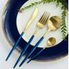 葡萄牙刀叉勺西餐餐具不锈钢拉丝刀叉勺咖啡勺四件套304材料