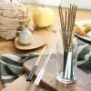 葡萄牙同款304不锈钢创意筷子 粉色 黑金 黑银 白金长筷子