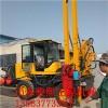 装载机改装护栏打桩机 公路护栏钻孔机 护栏安装设备