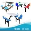 员工食堂加固型不锈钢餐桌椅 工地餐桌凳